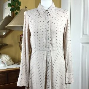 Free People This Town Button Down Polka Dot Dress